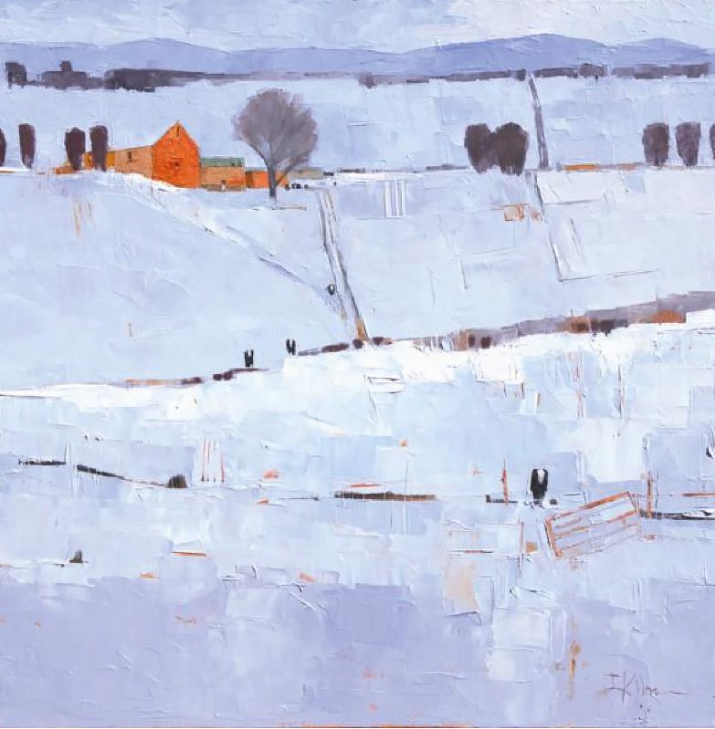 Winter Field with Red - Dinah Worman