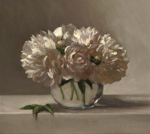 Sarah Lamb - Peonies in Glass Vase 18x16