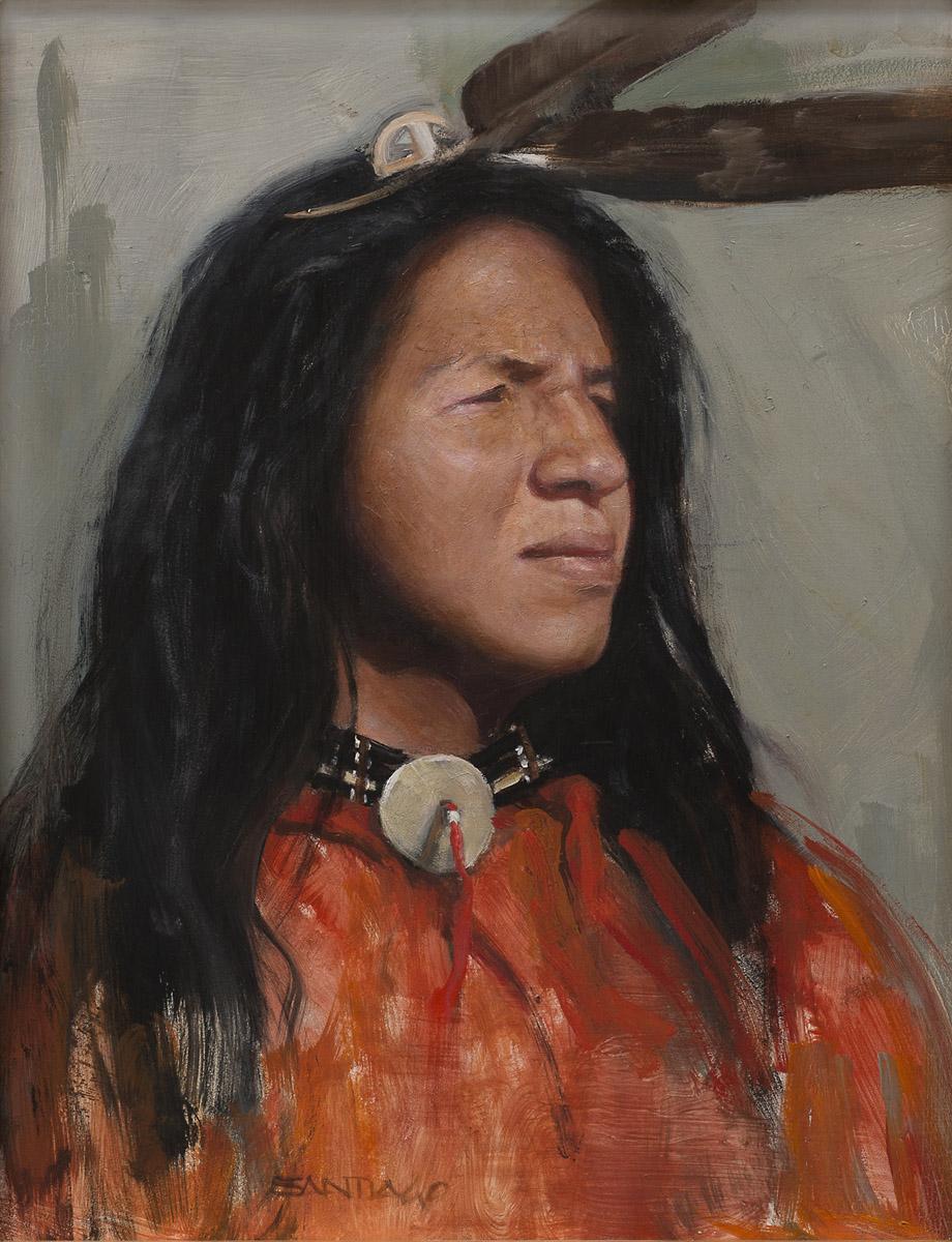 Roseta Santiago - Young Lakota Man 14x11