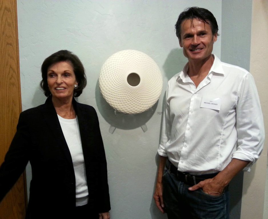 Ann Korologos and Michael Wisner at CMC Artshare