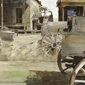 Dean Mitchell Trail Town WIndows and Wagons
