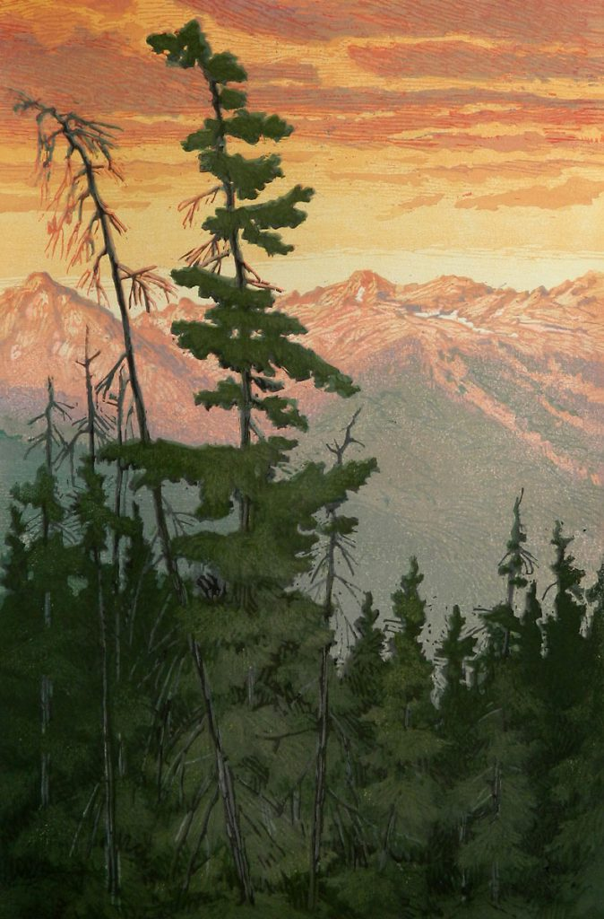 Leon Loughridge - Gore Range Sunrise 18x12
