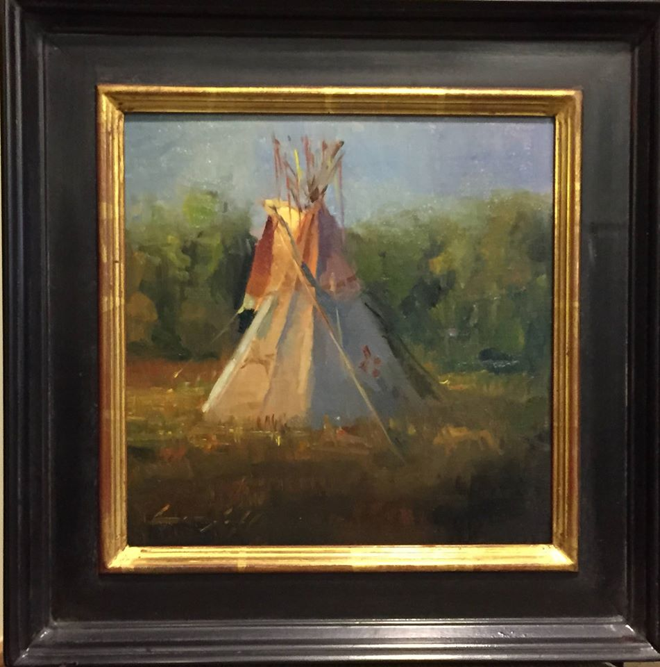 Peter Campbell plein air teepee