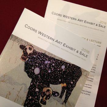 2016 Coors Western Art Exhibit & Sale programs
