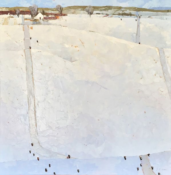 Dinah Worman - Snowy Day with Cows
