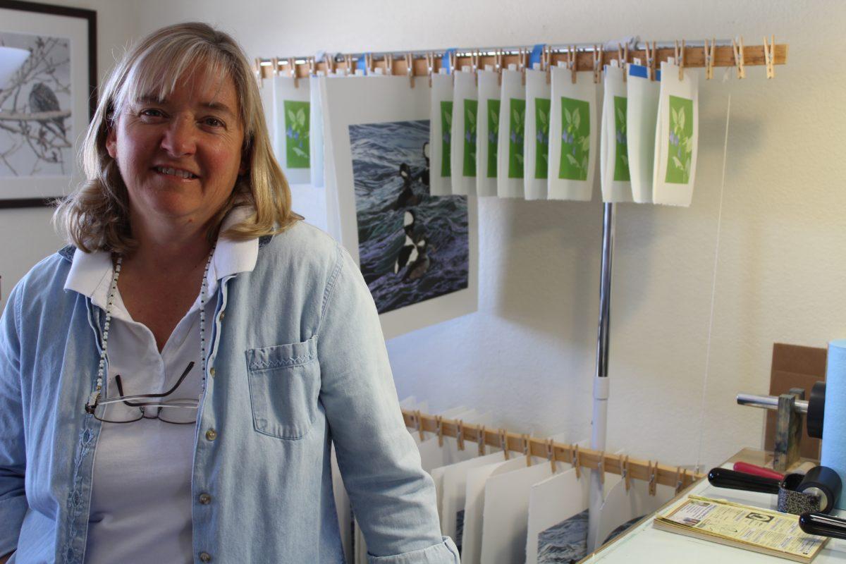 Sherrie York at her studio in Salida, CO.