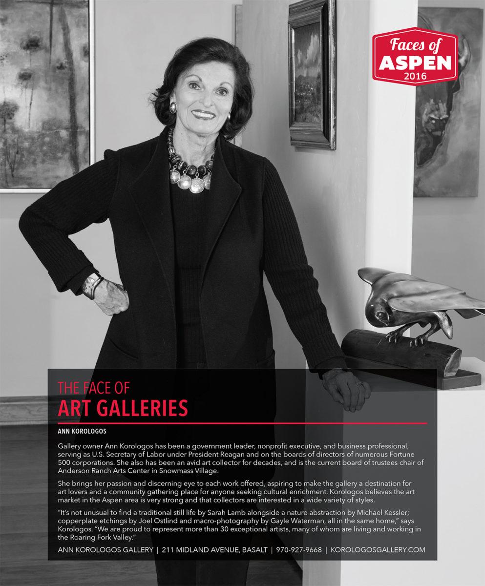 Ann Korologos: The Face of Art Galleries in Aspen