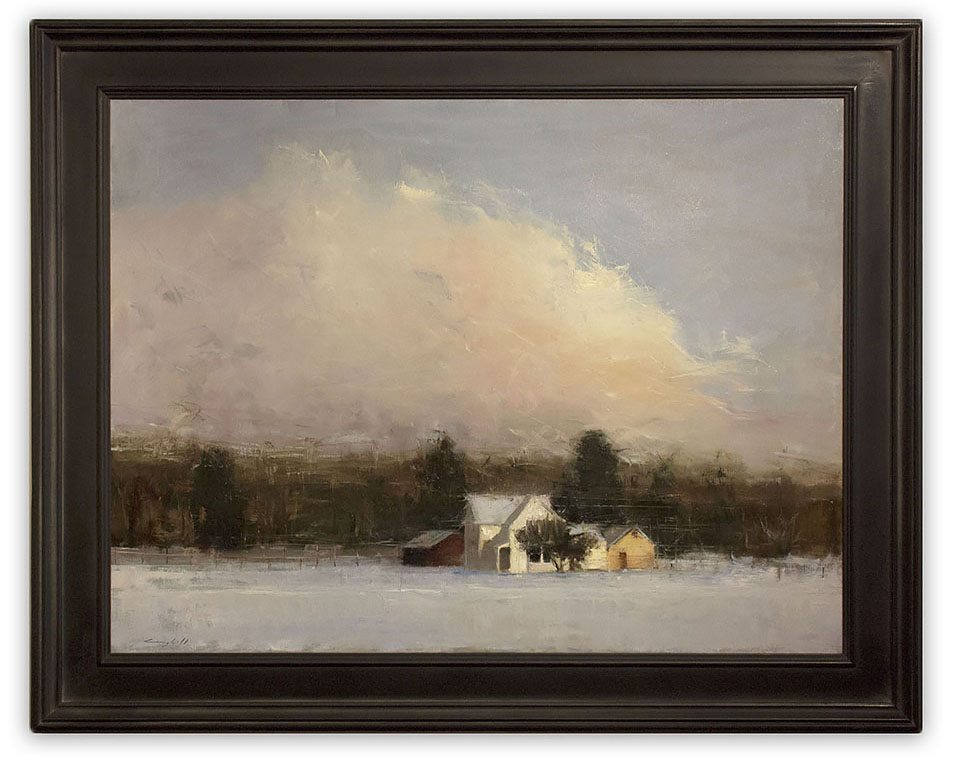 Peter Campbell - Winter Morning, framed