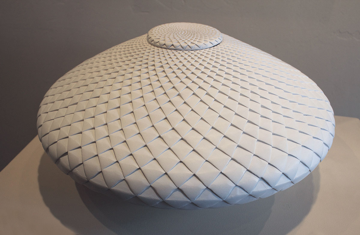 lidded white pinecone michael wisner ann korologos gallery michael wisner lidded white pinecone