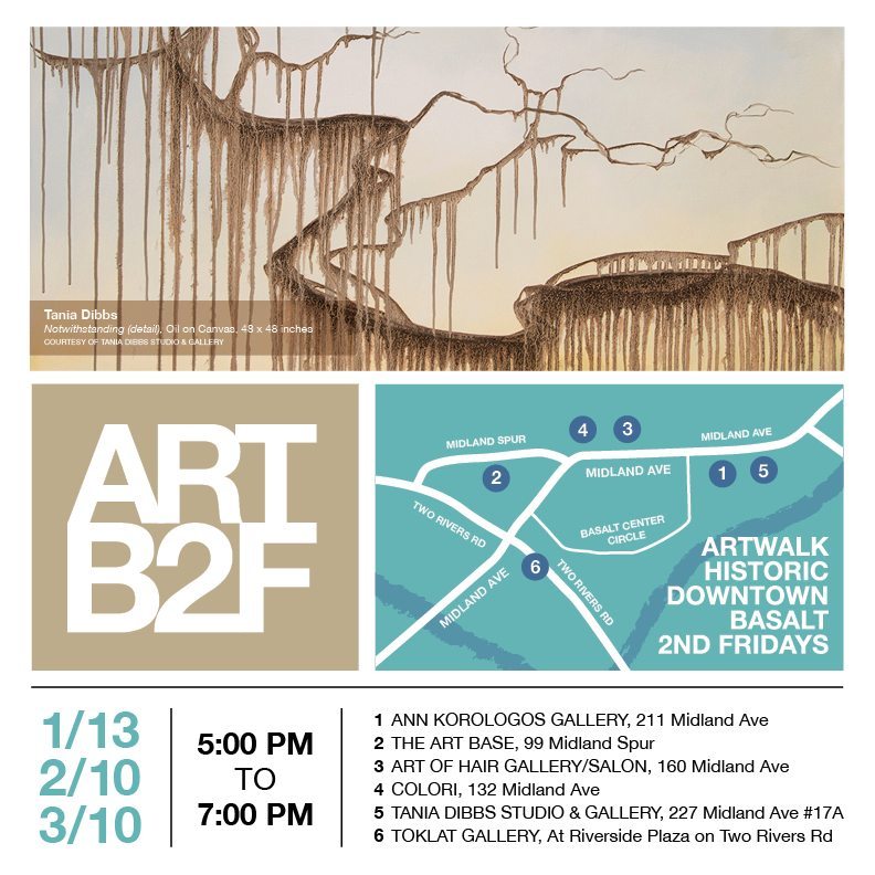 Artwalk Basalt 2nd Fridays (ARTB2F) Winter 2017