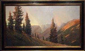 Peter Campbell - Red Mountain Pass, framed
