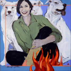 Donna Howell Sickles - Laughter By Firelight