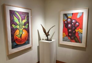 "Aaron Fink prints Cherry Tomato and ""Grapes at Ann Korologos Gallery"