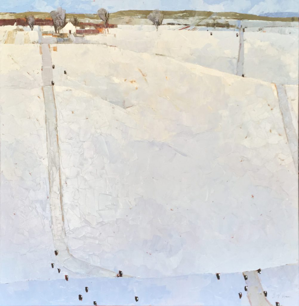 Dinah K. Worman - Snowy Day with Cows