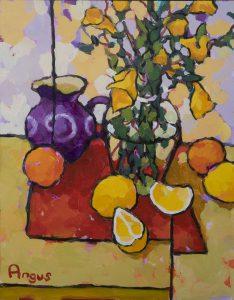 Angus Wilson - Study of Lemons and Purple Milk Jug