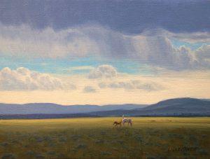 Linda Lillegraven - Study Horses and Cloud Shadows