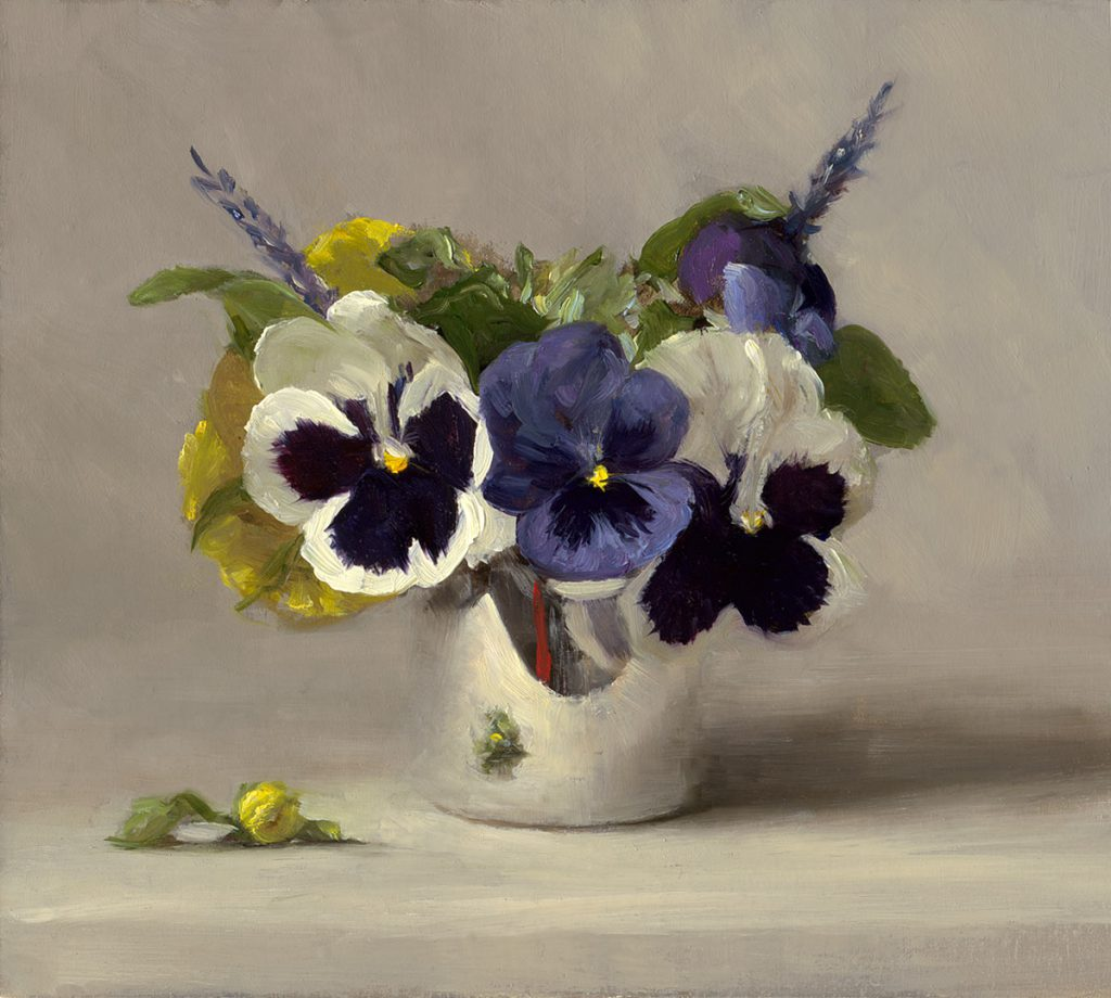 Sarah Lamb - Pansies in Silver