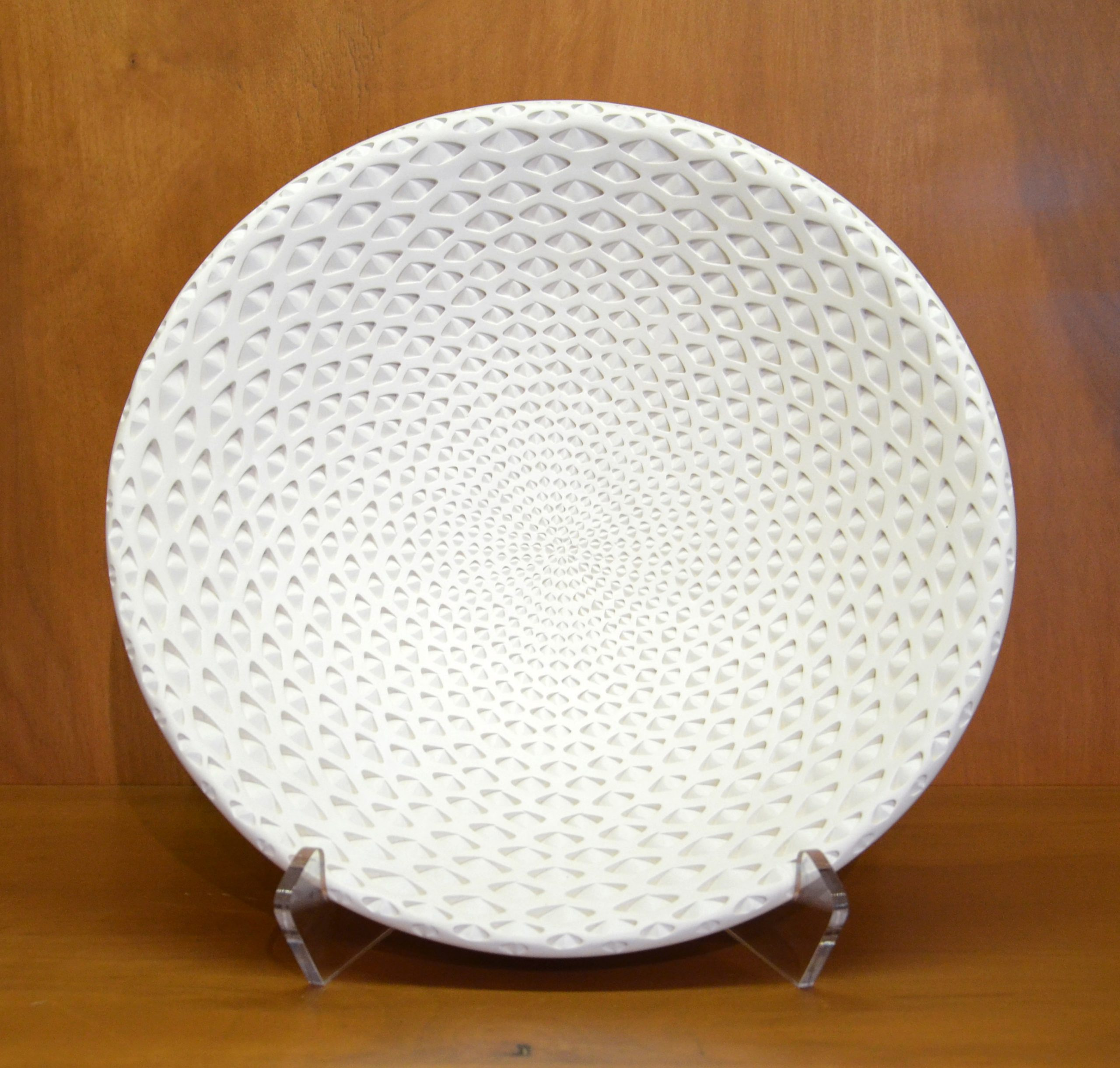 Michael Wisner - (3) White Oval Bowl