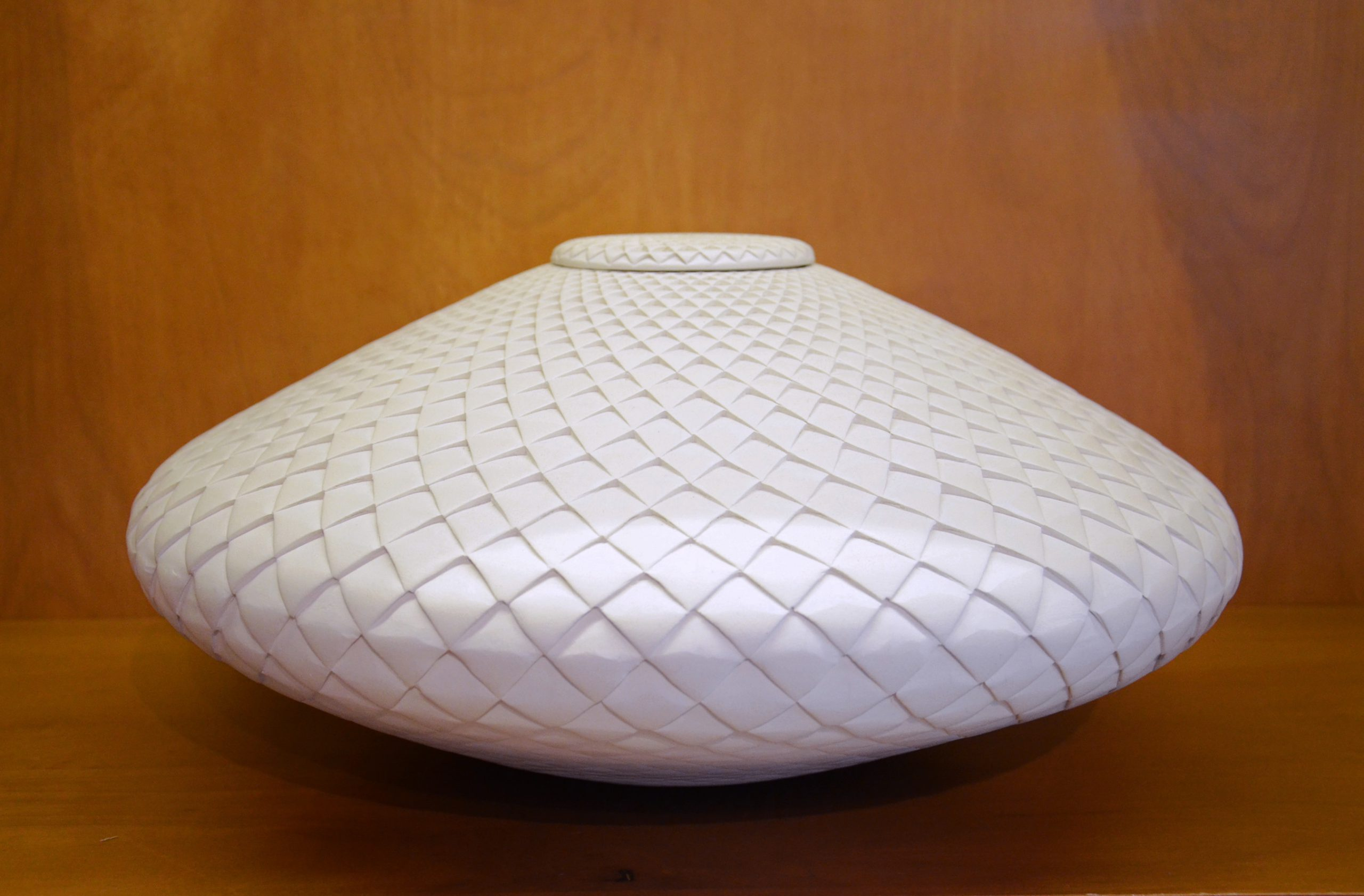 Michael Wisner - (9) Lidded White Pinecone