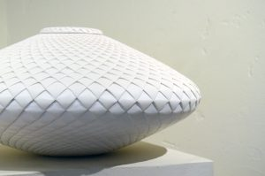 Michael Wisner - (9) Lidded White Pinecone