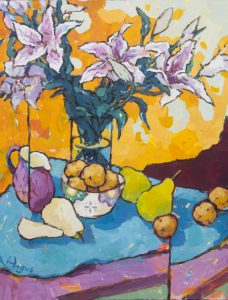 Angus Wilson - Apricots, Pears, and Lilies