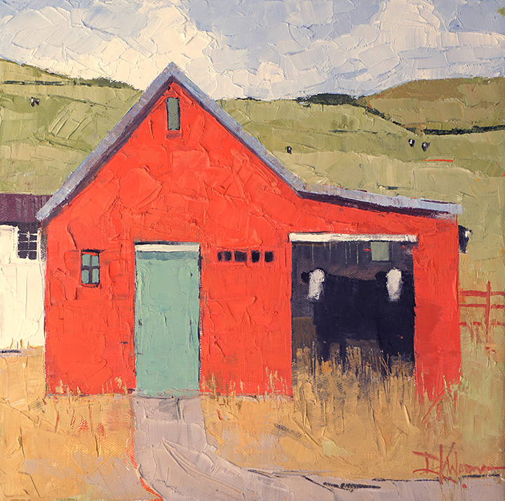 Dinah Worman - Barns and Cows II