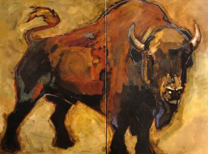 Peggy Judy - Bison Diptych