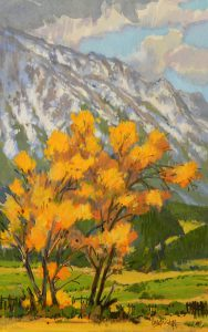 Leon Loughridge - Cottonwoods and Sopris