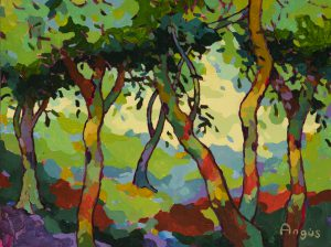 Angus Wilson - Dappled Patterns on Green Reimagined