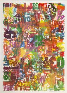 Lloyd  Schermer  - Embossed Type with Color Ink II