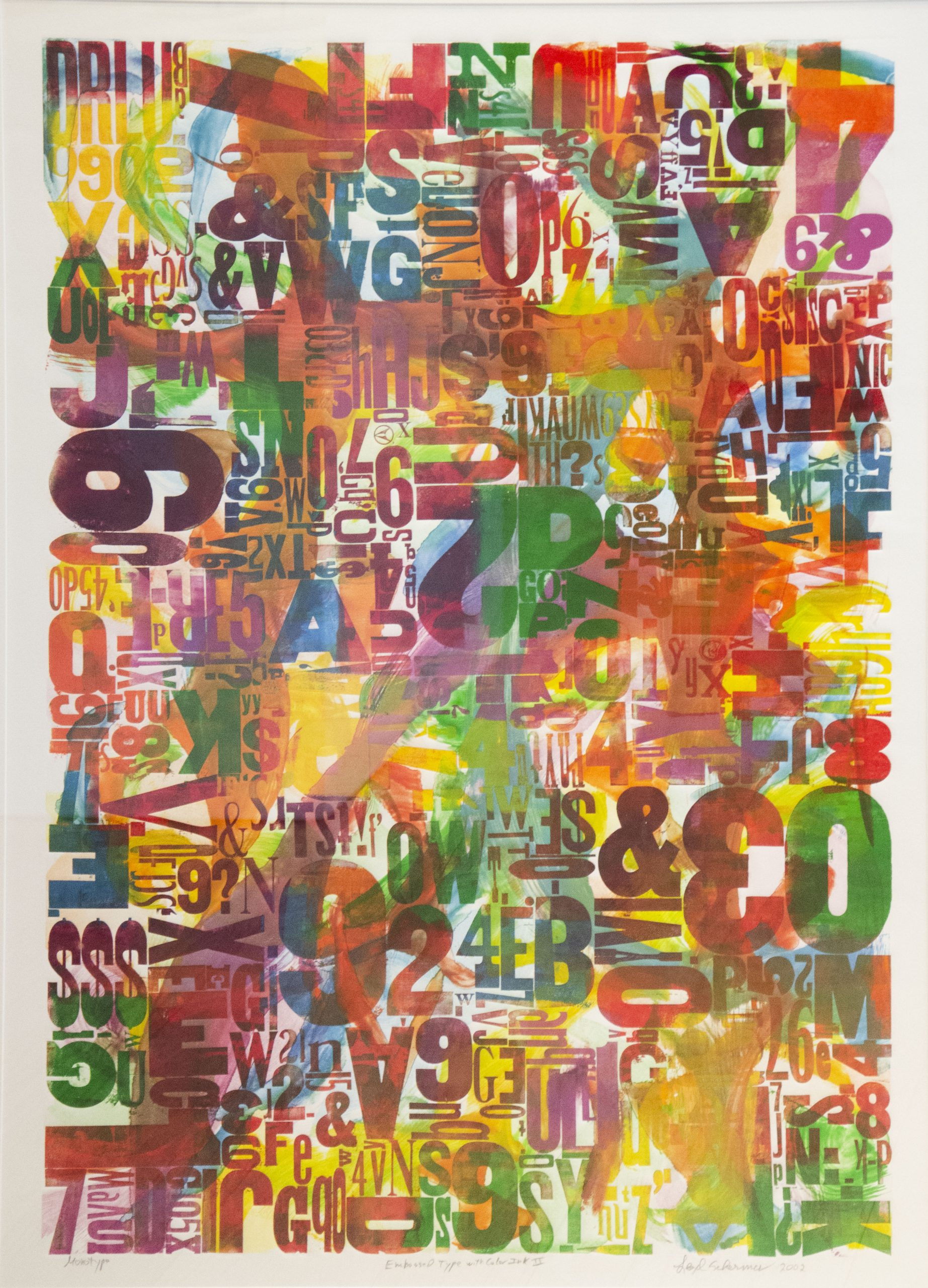 Lloyd  Schermer  - Embossed Type with Color Ink II