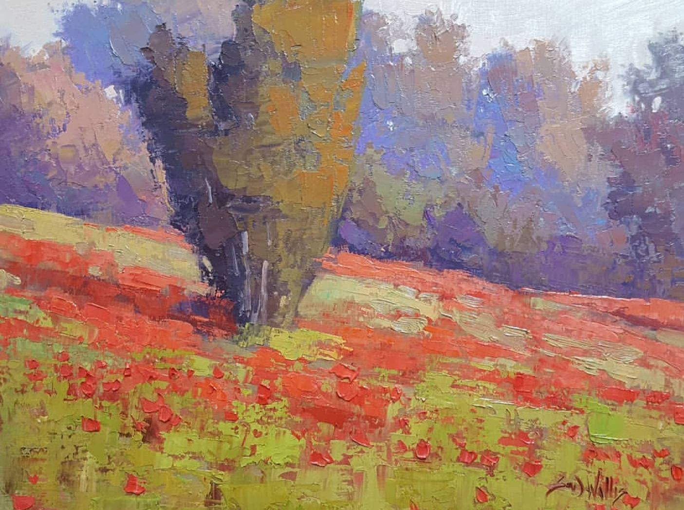 Sean Wallis - Evening Poppies