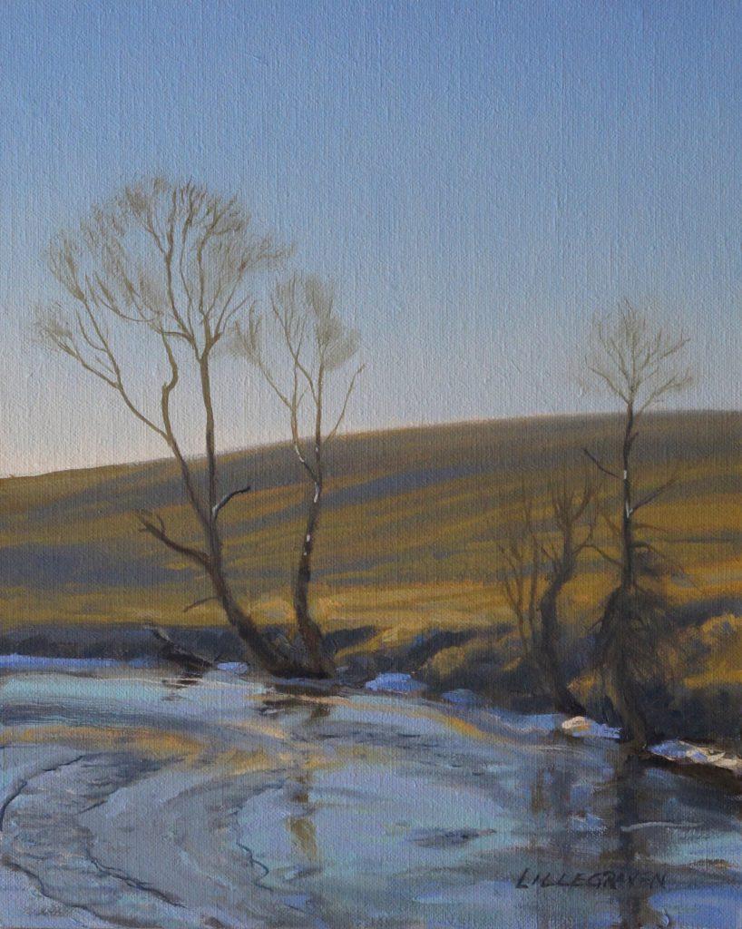 Linda Lillegraven - Laramie Winter River Study