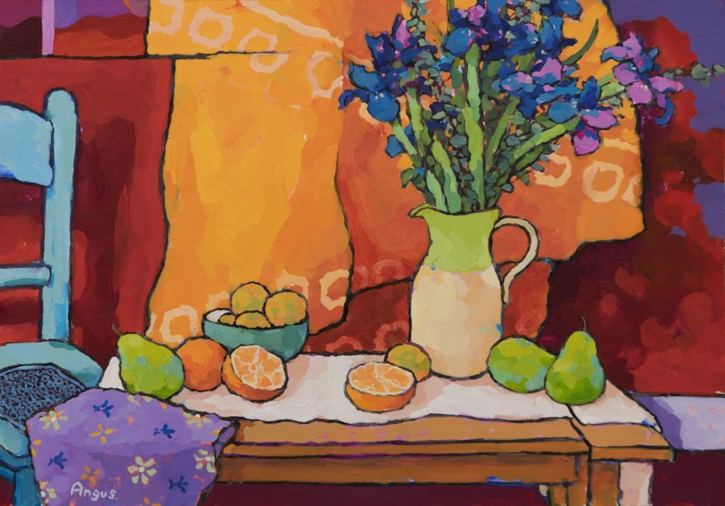 Angus Wilson - Oranges, Pear, & Apricot with Iris