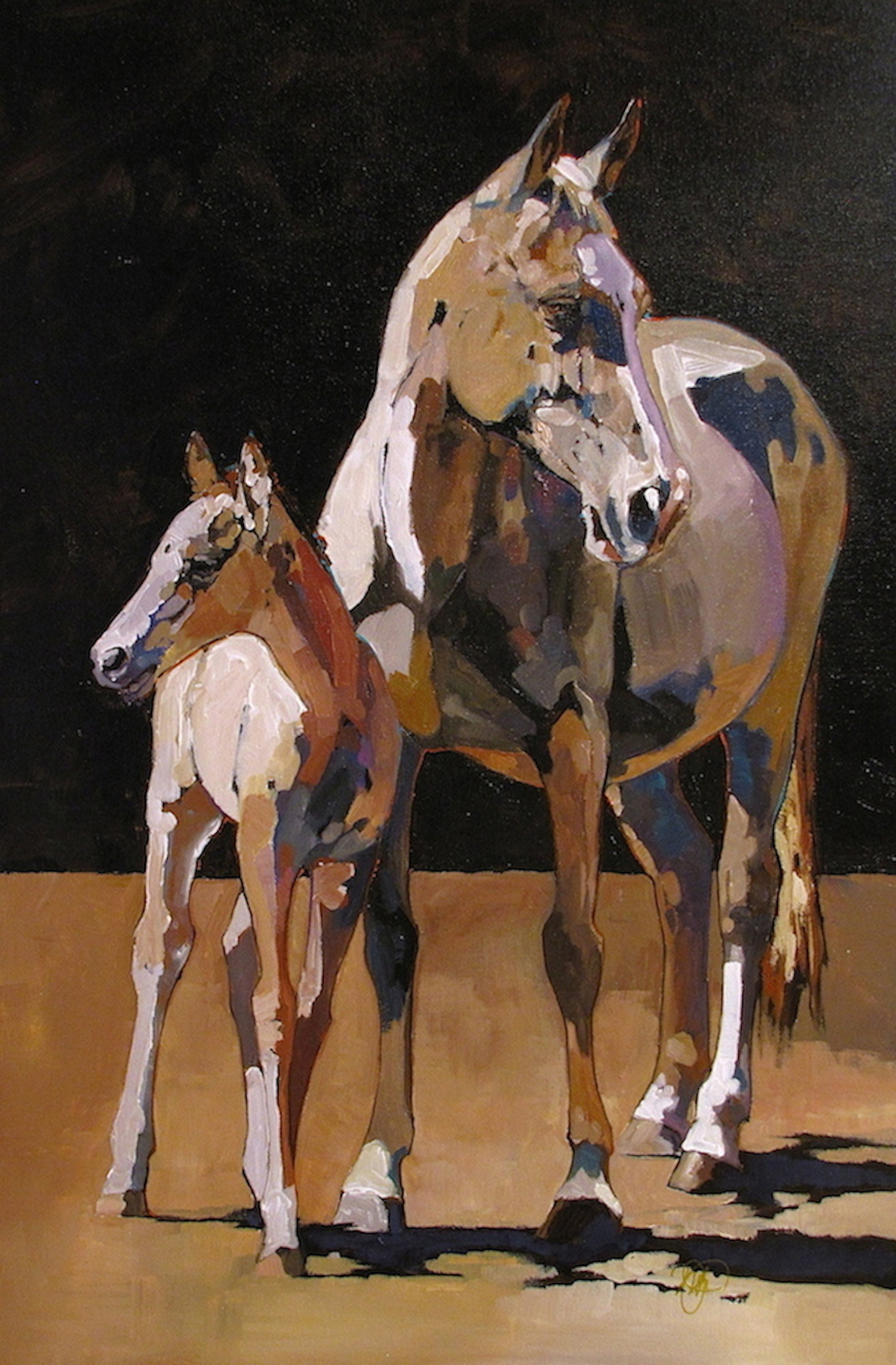 Peggy Judy - Palomino Mare and Foal