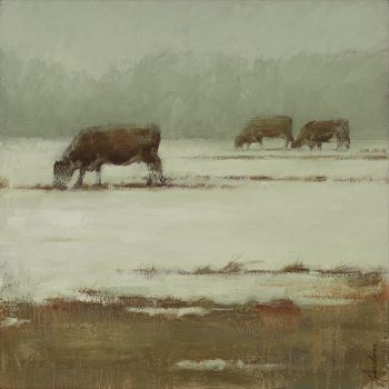 Terry  Gardner - Three Cows, Early Spring
