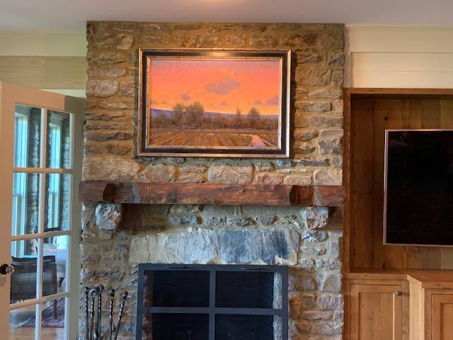 Dan Young landscape painting in situ