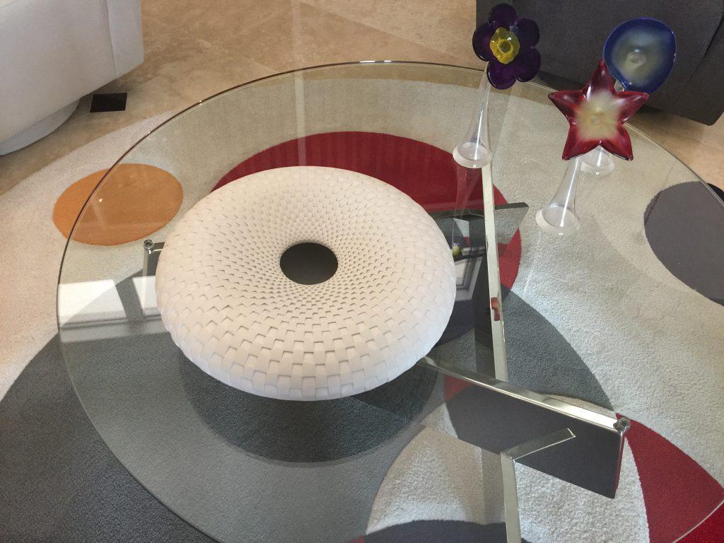 Michael Wisner pottery in situ coffee table