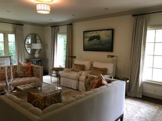 Terry Gardner painting in situ living room interior