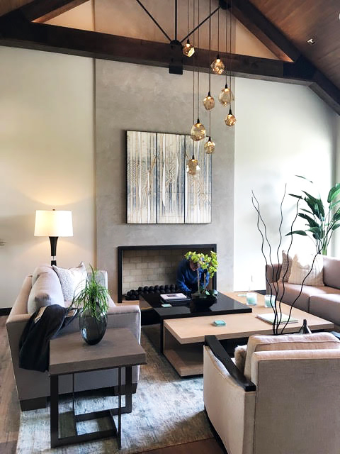 "Micheal Kesslers ""White Grove 1"" in situ, living room interior"