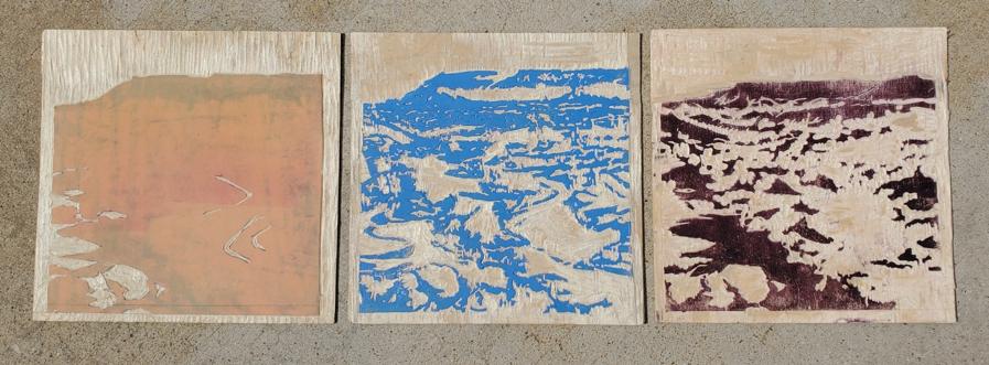 Kate Starling Woodblock Print