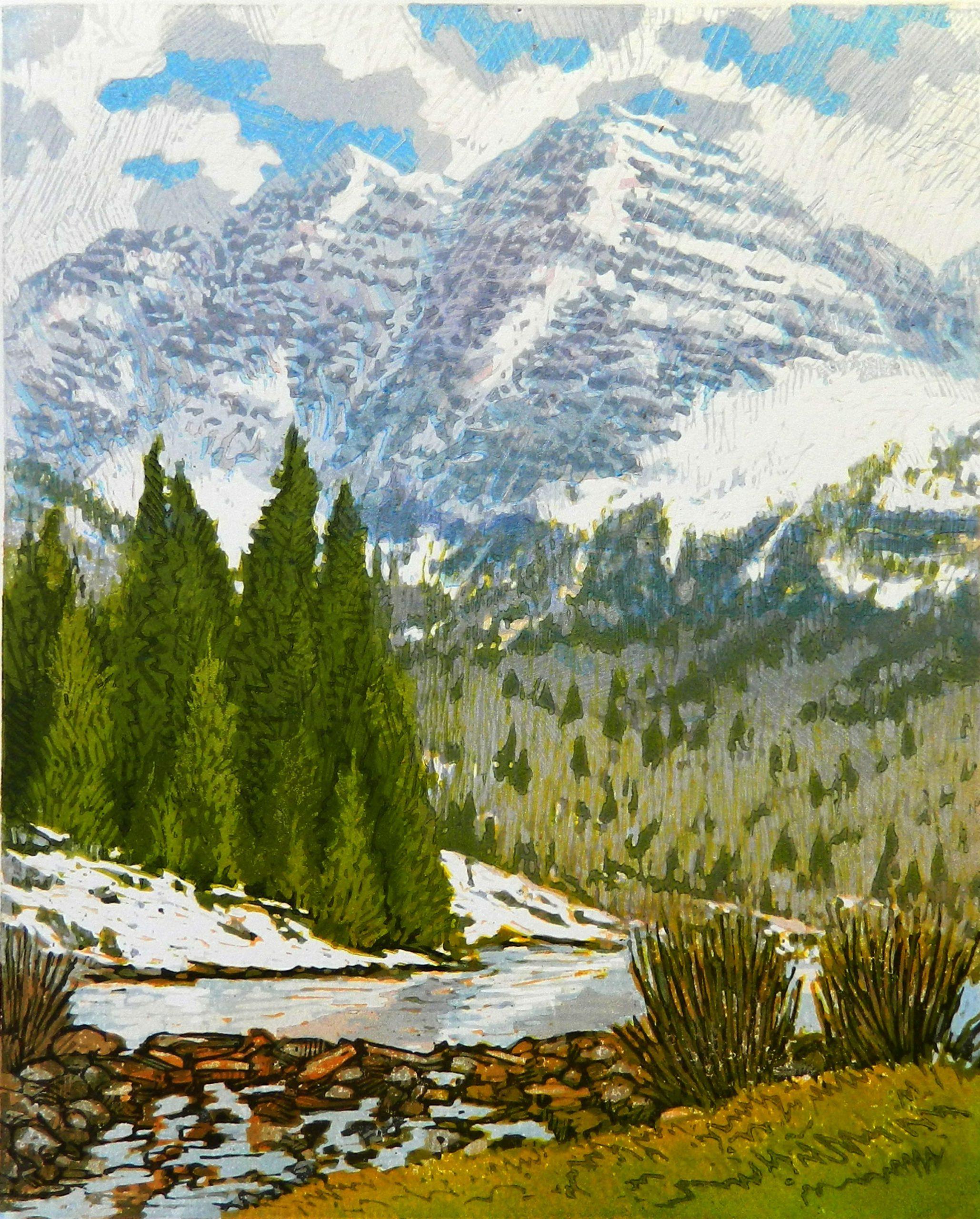 Leon Loughridge - Spring flurries, Maroon Bells - 6/28