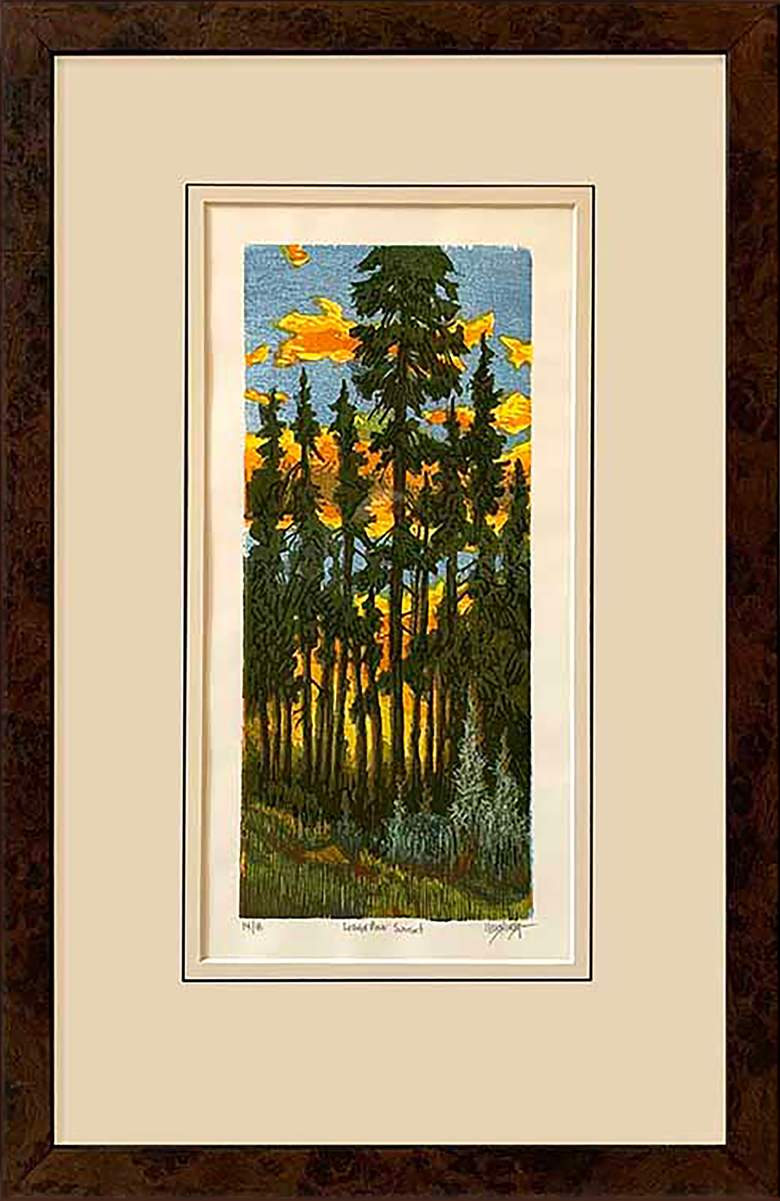 Leon Loughridge - Lodge Pole Sunset, 14/18