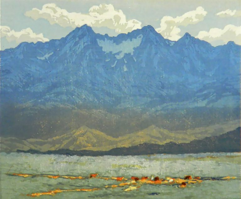 Leon Loughridge - Wild Horses Below Mt. Blanca 24/26