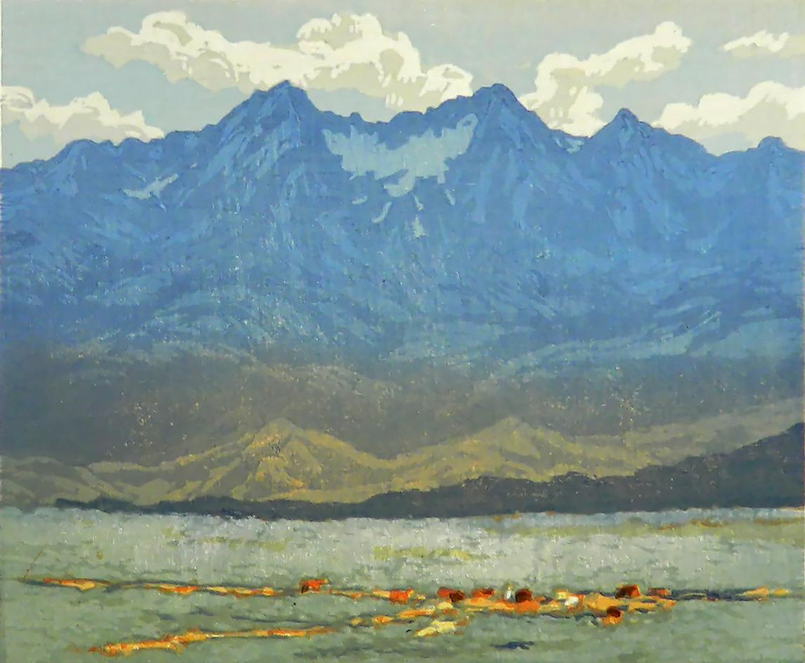 Leon Loughridge - Wild Horses Below Mt. Blanca 24/26