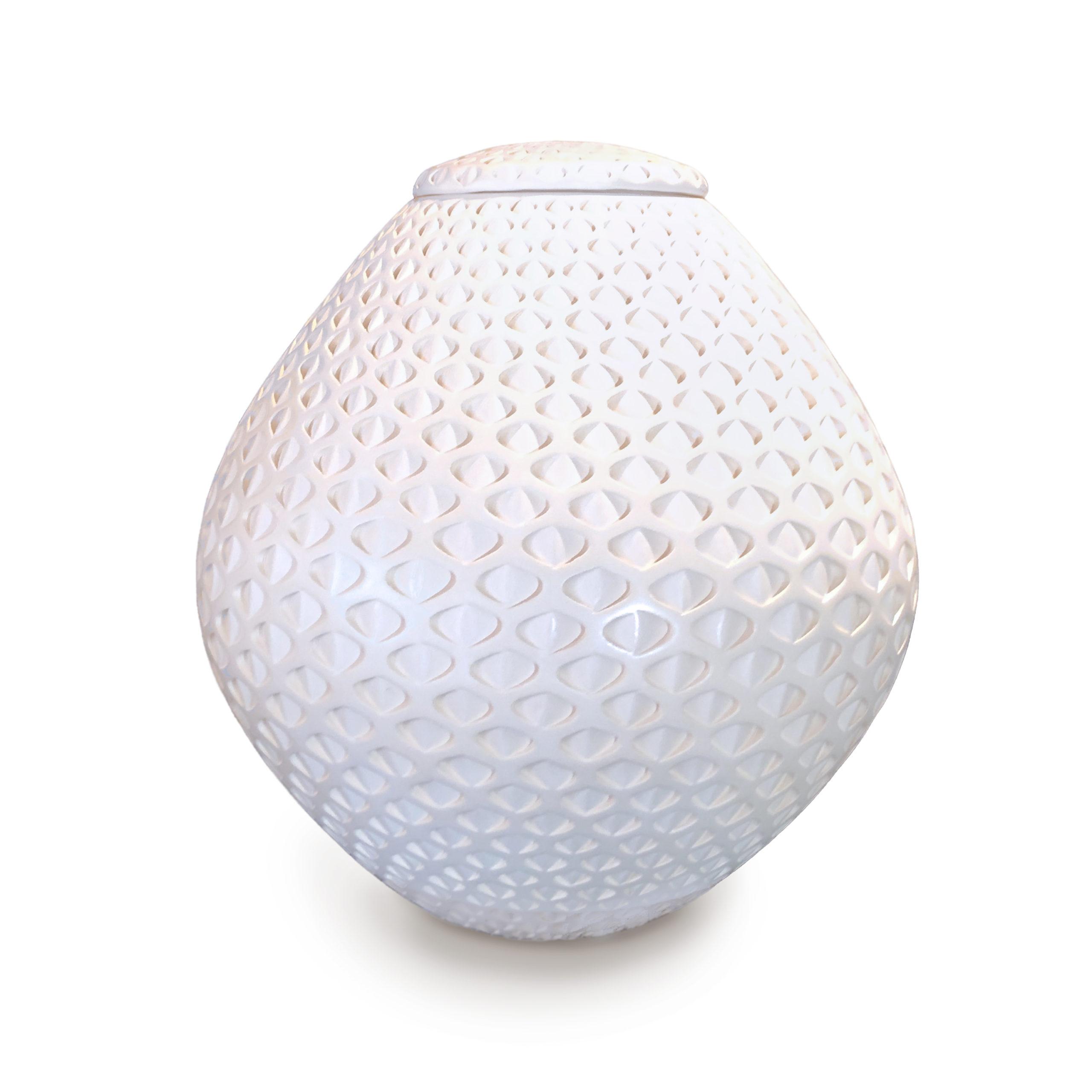 Michael Wisner - Lidded White Oval (108)