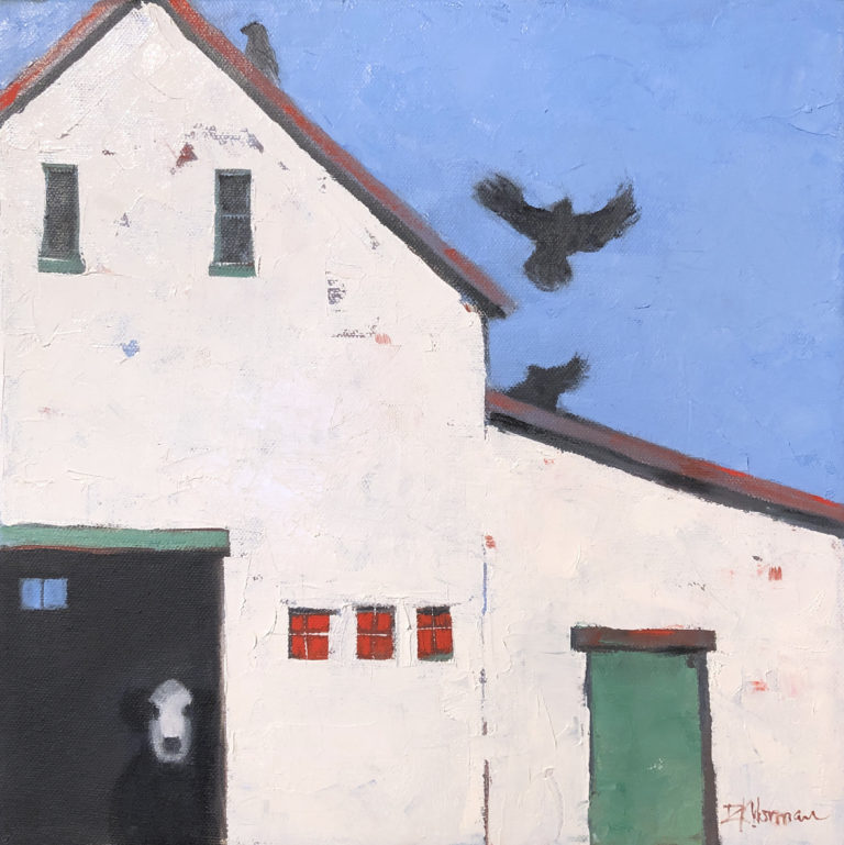 Dinah Worman - 3 Crows and a Cow
