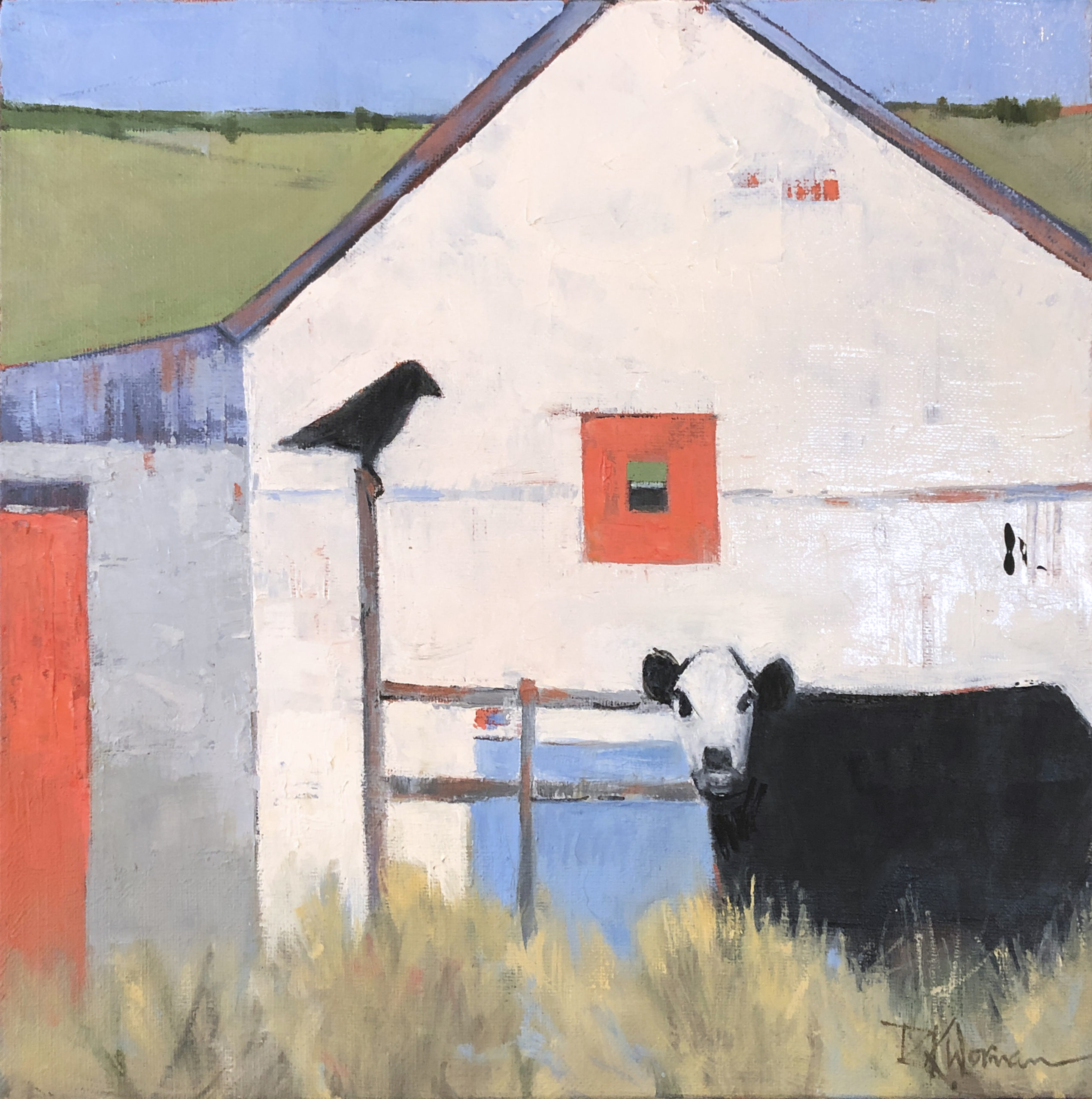 Dinah Worman - A Cow and a Crow